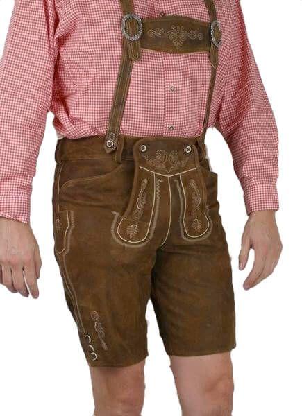 Country Maddox kurze Lederhose Max antik nappato