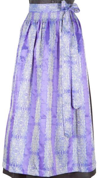 049 Dirndlschürze 95er länge lila blau