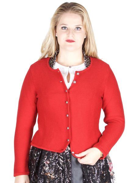 Country Line Strickjacke S-378 rot