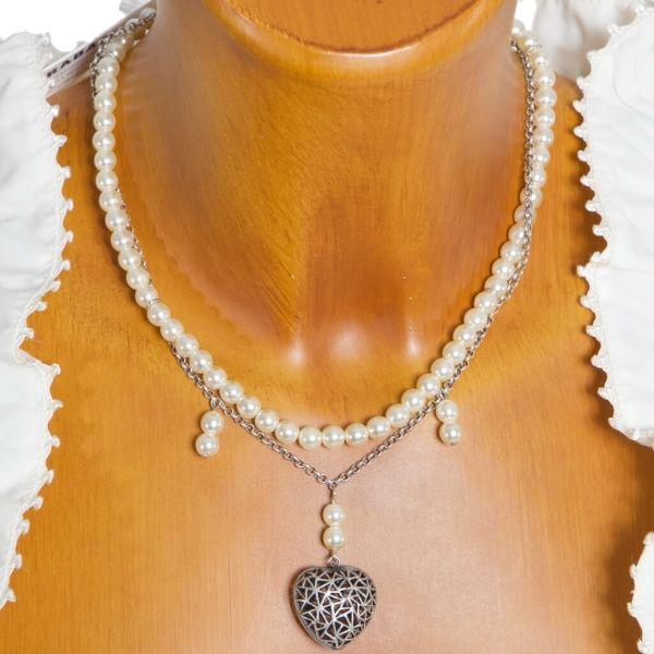HK26 2010 Perlenkette mit Herzmedaillon