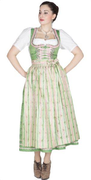 10214 Krüger Manufaktur Dirndl 85er grün rose