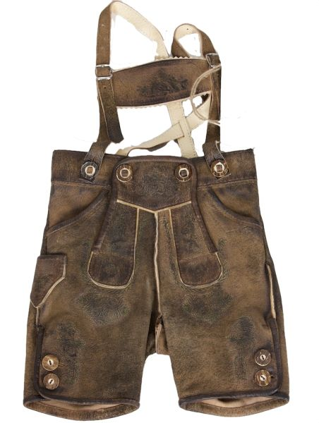 August-Kid Antik Stein Kinder kurze Lederhose