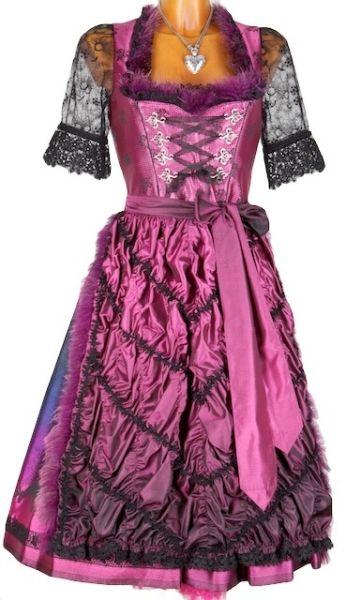 5816 Krüger Manufaktur Dirndl schwarz pink