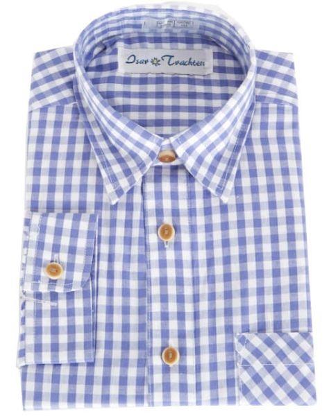 52915 Kinderhemd blau weiss karo langarm