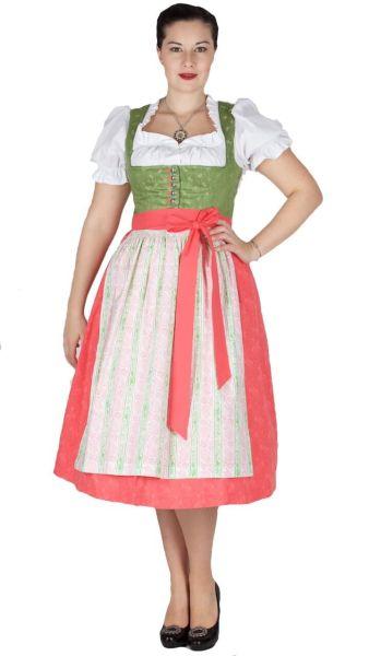 16059 Kaiser Franz Josef Dirndl Wittensee 70er grün Leinen