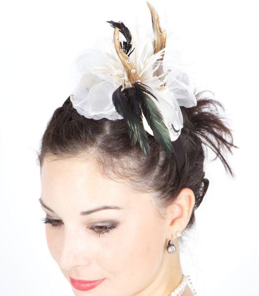 13029 Haarreif mit Blume und Geweih