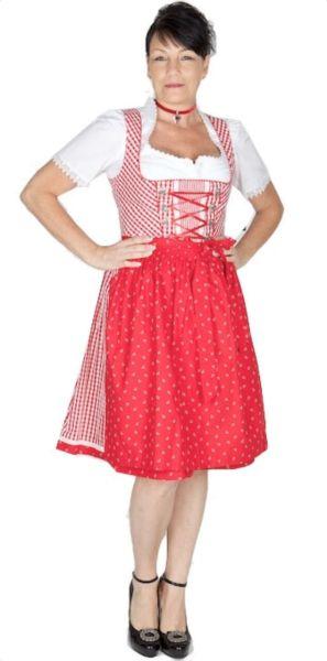 10837 Wenger Dirndl Zoe 60er rot weiß karo