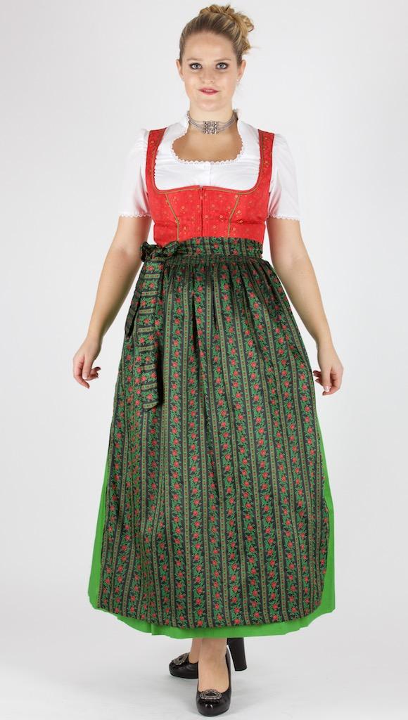 0ba0a77d9de90 13823 Wenger Dirndl 95er Gr 38 rot grün schwarz