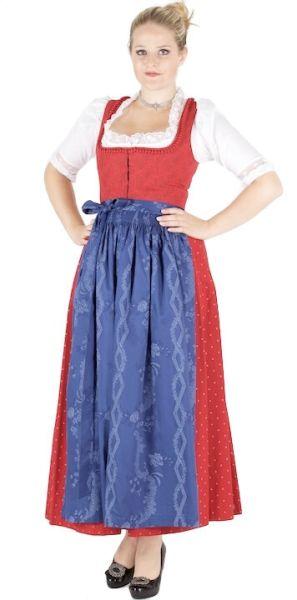 12754 Hofer Dirndl Grafenau 95er Gr 36 rot blau