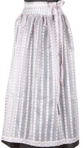 045 Dirndlschürze 95er länge Gr L weiß rosa durchsichtig