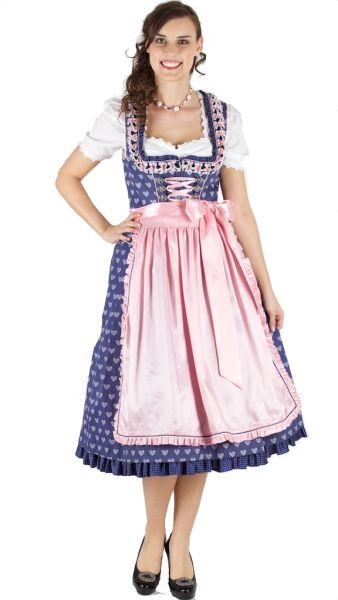 14386 Krüger feelings 70er Dirndl blau rose