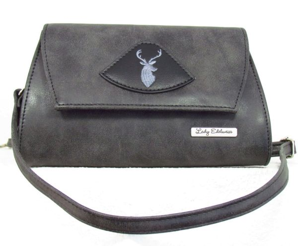 17500 Lady Edelweiss Trachten Clutch anthrazit