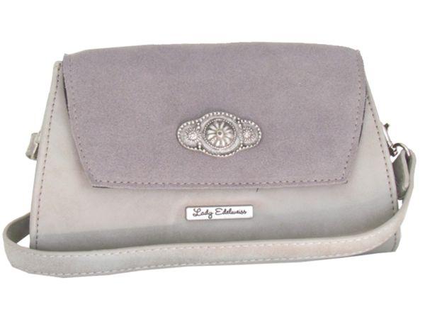 Lady Edelweiss Umhängetasche und Clutch 17501 grau