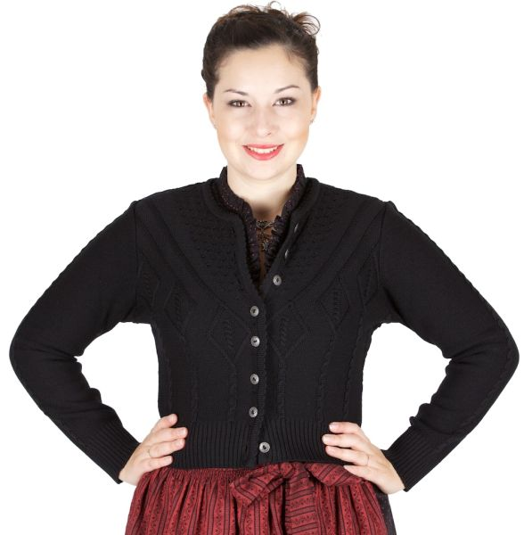 AS 214351 Alpenstrick Damenstrickjacke schwarz