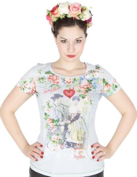 Sportalm T-Shirt Angelina hellblau Herz
