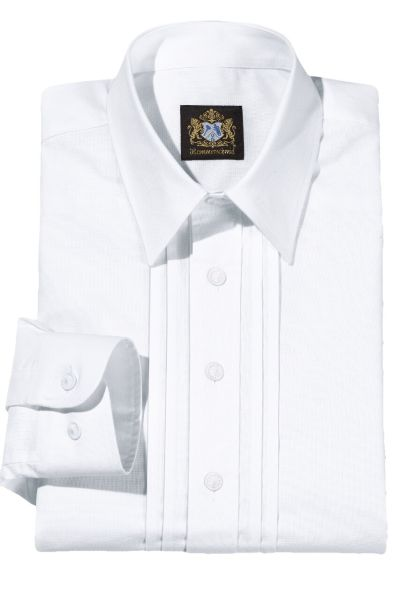 Hammerschmid Herren Trachtenhemd 1911005 weiss mit Pfoad