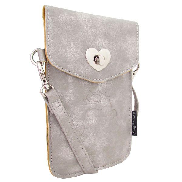 Lady Edelweiss Handy Umhängetasche 10110 Silber