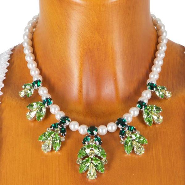 C9482 Swarowski Perlenkette (7) mit Swarovskisteinen