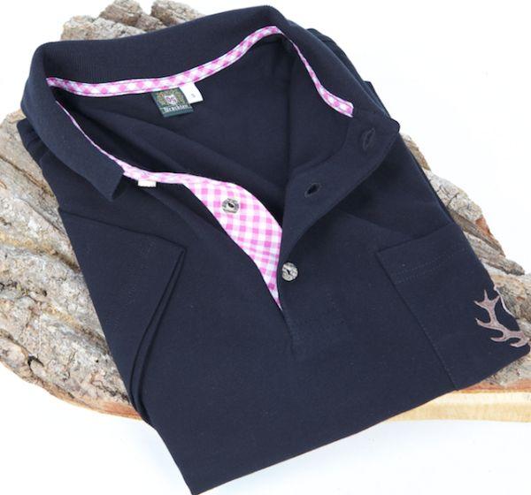 ORB41 Herren Poloshirt schwarz Kurzarm Stick auf Tasche