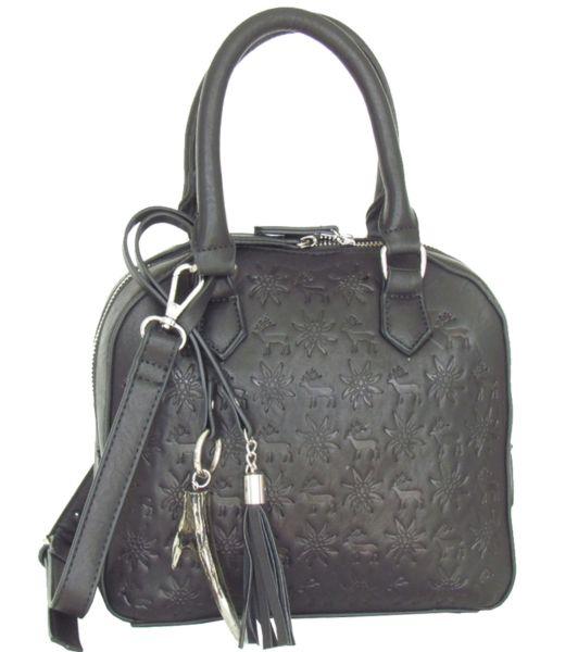 Lady Edelweiss Trachten Umhängetasche 18202 schwarz