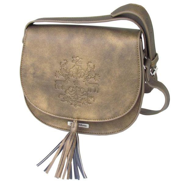 13102 Lady Edelweiss Umhängetasche antik braun