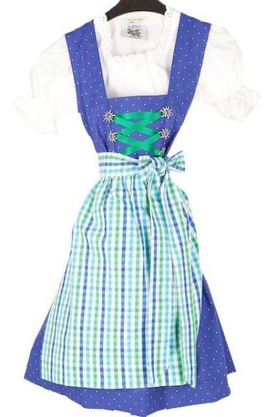 44523 Isar Trachten Kinderdirndl mit Bluse blau
