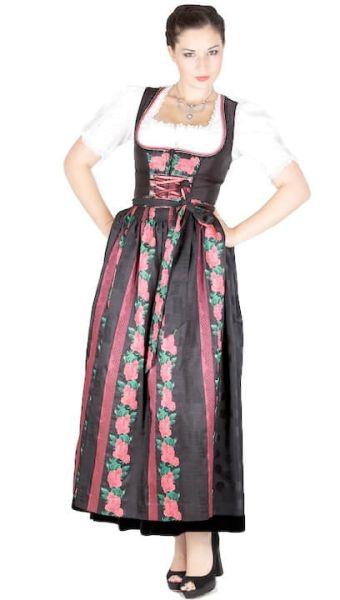 10753 Krüger Manufaktur Dirndl 95er schwarz pink