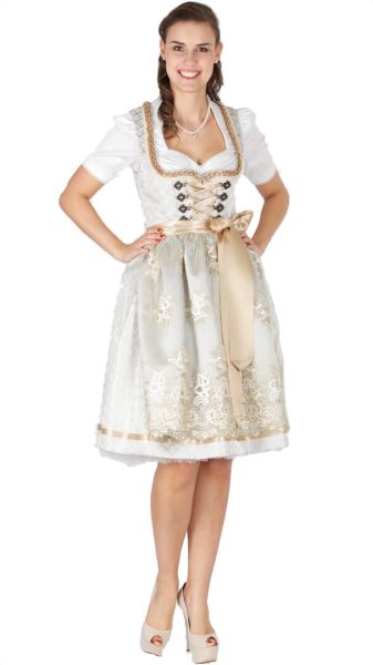 15424 Krüger Collection 60er Dirndl silber gold