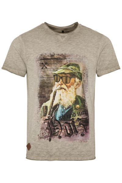 Hangowear Herren T-Shirt Fritz 1182 70682 mud 0193
