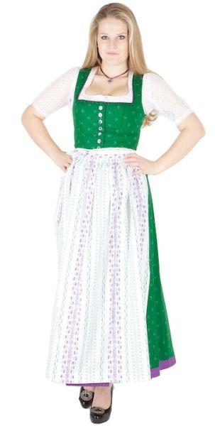 11744 Wenger Dirndl Josefine 95er grün weiß lila