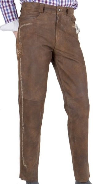Country Maddox lange Lederhose Flawil moos nappato