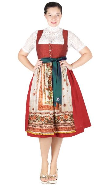Sportalm Dirndl Hollabrunn 70er red