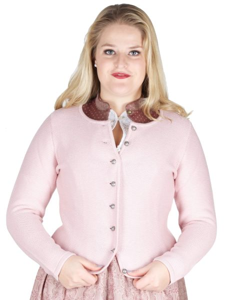 Country Line Strickjacke S-378 rosa