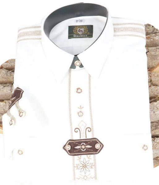220018-1011/01 Hemd weiß mit Garnstickerei