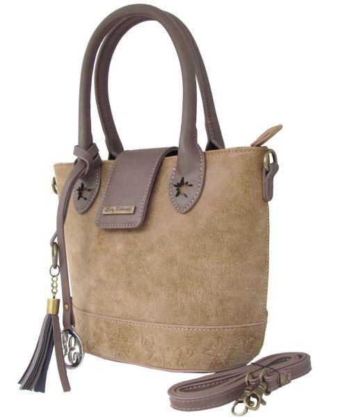 18010 Lady Edelweiss Tasche antik braun Edelweiss Prägung