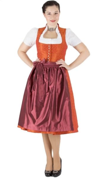 13170 Wenger Dirndl Lorelei 70er orange beere