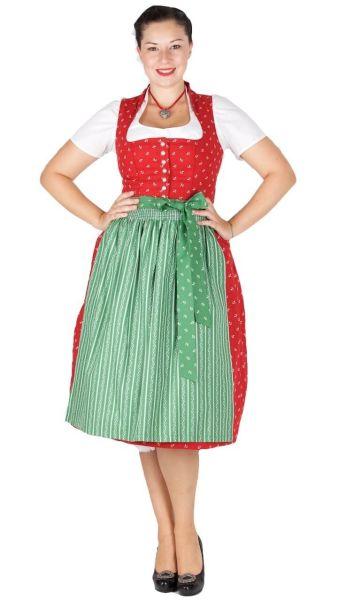 Kaiseralm Dirndl Dea 16202 8301 70er rot grün Fb 33