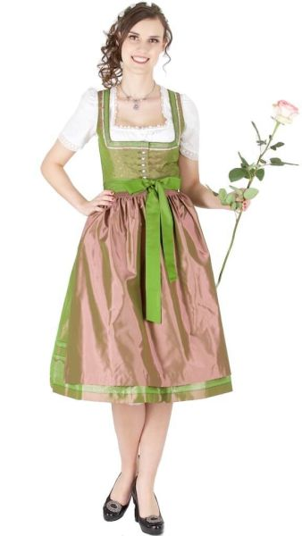 14113 Wenger Dirndl Candy 70er grün altrosa