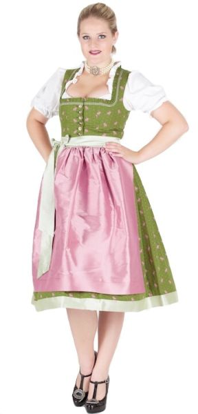 Sportalm Dirndl Eschach 70er Maigrün grün rosa