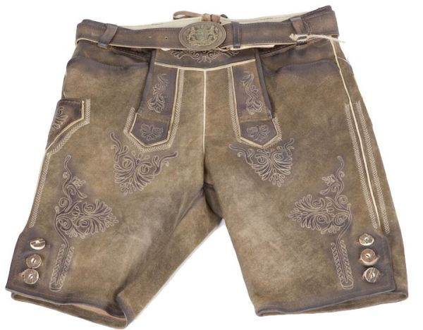 Ammersee antik ziller kurze Lederhose mit Gürtel