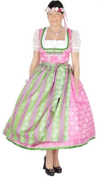 9852 Krüger Manufaktur Dirndl 85er pink grün