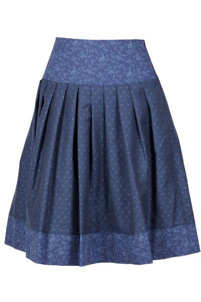 Kaiseralm Damenrock Hanka 9526 blau Fb 53