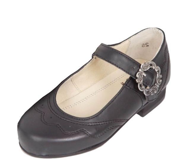 1516 k Mädchen Plattler Ballerina schwarz
