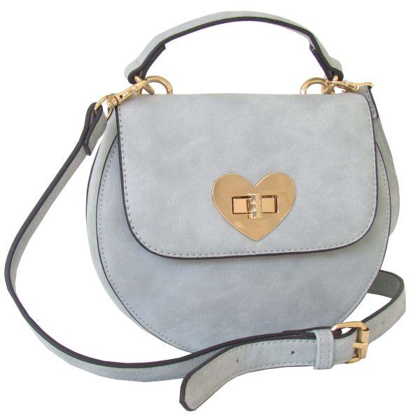 Lady Edelweiss Trachtentasche 18200 Herzform blau