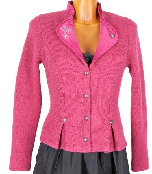 1267 Litzlfelder Damen Strickjacke pink Strass