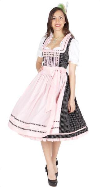 8590 Krüger Madl 70er Dirndl schwarz rosa
