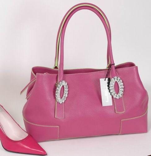 5092 Damentasche pink Strass