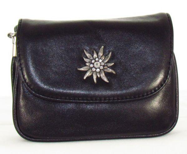 30962 Lady Edelweiss Trachtentasche mit Edelweiß schwarz