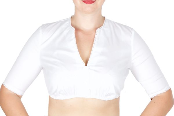 Wenger Dirndlbluse Lily weiss Stretch
