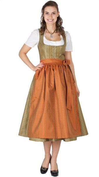 15351 Wenger Dirndl Manuela 80er oliv orange
